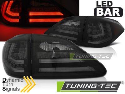 Задняя альтернативная оптика Dynamic Turn LED Smoke на Lexus RX III 350