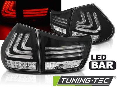 Задние фонари F-Style Led Bar Black на Lexus RX II 330 / 350