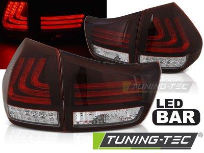 Задние фонари F-Style Led Bar Red Crystal на Lexus RX II 330 / 350