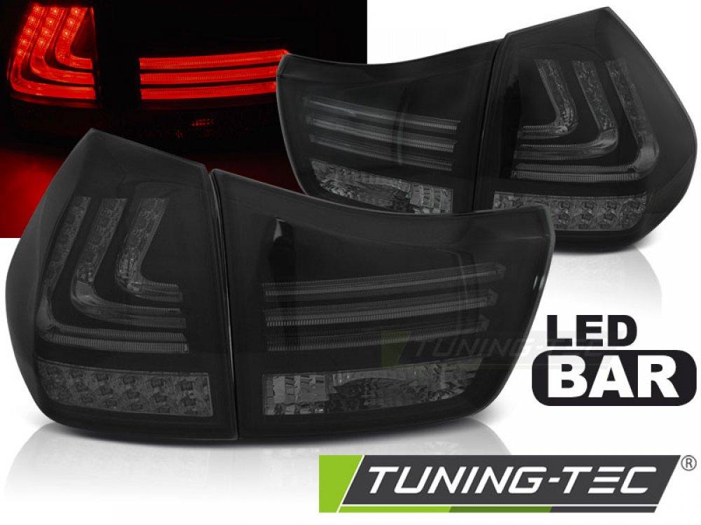 Задние фонари F-Style Led Bar Black Smoke на Lexus RX II 330 / 350