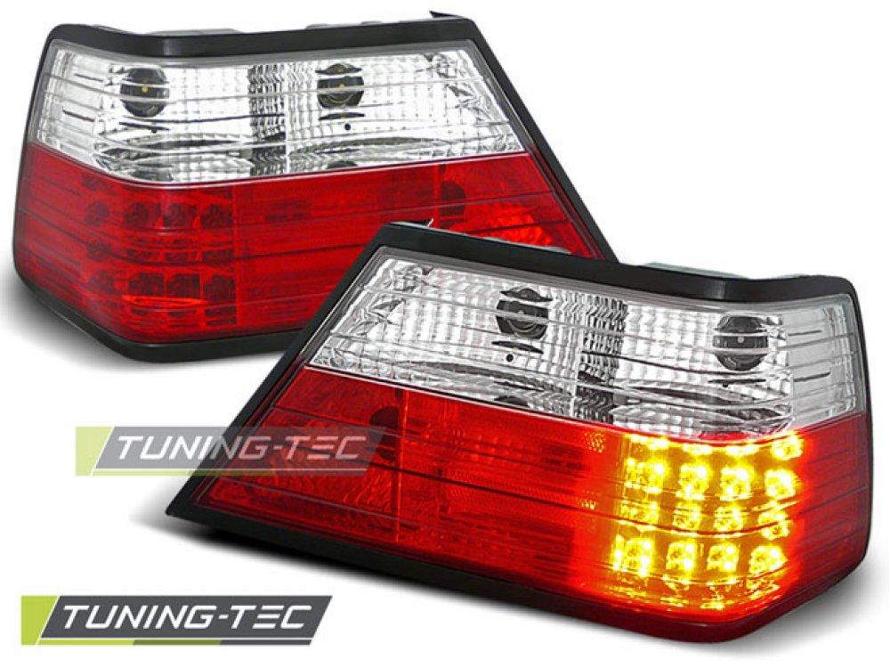 Задние диодные LED фонари красные от Tuning-Tec на Mercedes E класс W124