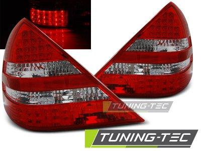 Задняя альтернативная оптика LED Red Crystal Var2 от Tuning-Tec на Mercedes SLK класс R170
