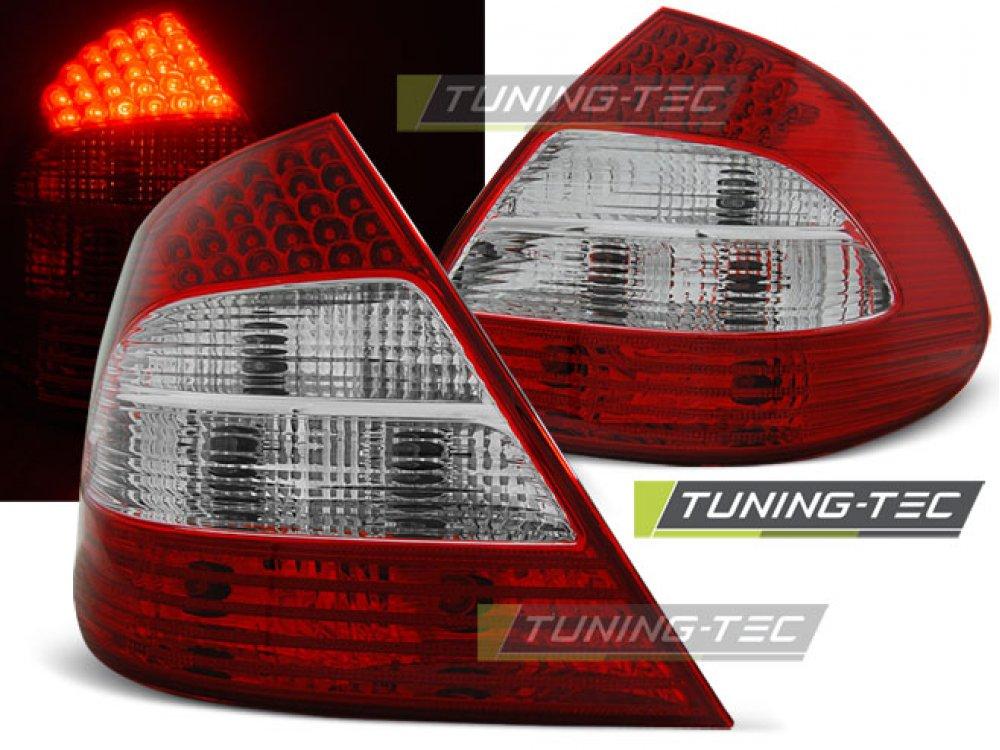 Задние фонари в стиле рестайла LED Red Crystal от Tuning-Tec на Mercedes E класс W211