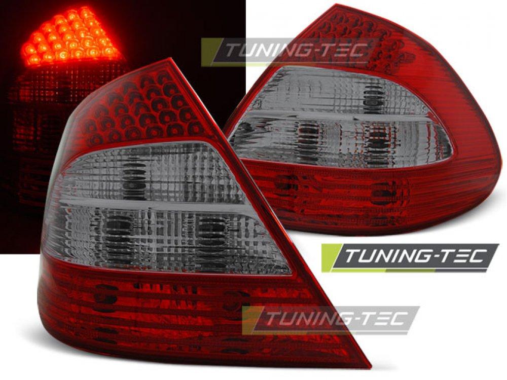 Задние фонари в стиле рестайла LED Red Smoke от Tuning-Tec на Mercedes E класс W211
