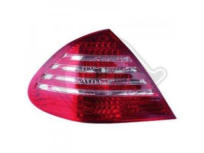 Задние фонари LED Red Crystal от HD на Mercedes E класс W211