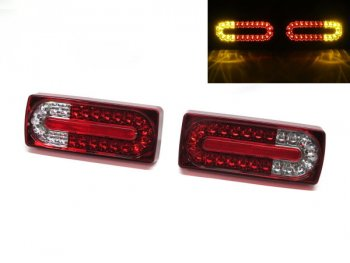 Задние фонари LED Red Crystal от CarID на Mercedes G класс W463