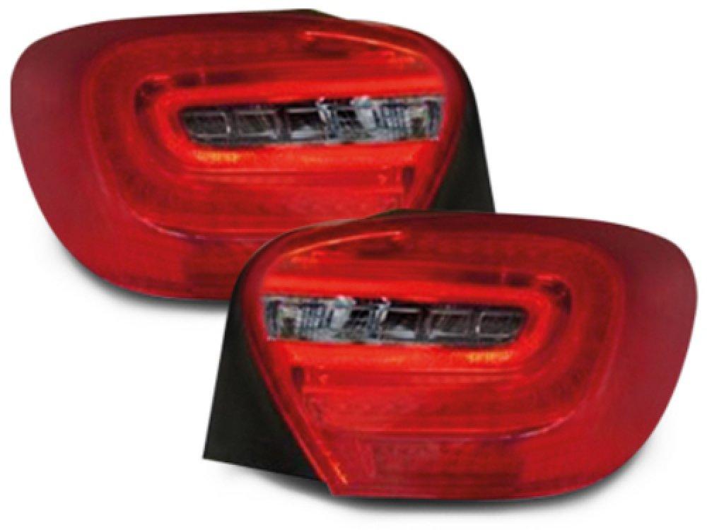 Задние диодные фонари Full Led Bar Red Smoke на Mercedes A класс W176