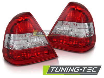 Задняя альтернативная оптика Red Crystal от Tuning-Tec на Mercedes C класс W202