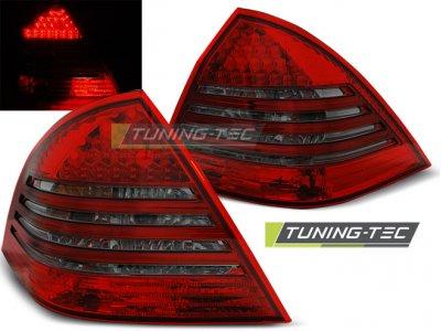 Задние фонари Led Red Smoke от Tuning-Tec на Mercedes C класс W203