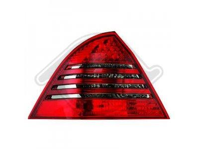 Задние фонари Led Red Smoke на Mercedes C класс W203 рестайл