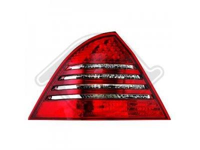Задние фонари Led Red Crystal на Mercedes C класс W203 рестайл