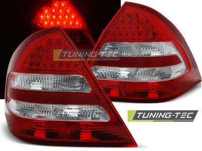 Задние диодные фонари Led Red Crystal Var2 на Mercedes C класс W203 рестайл