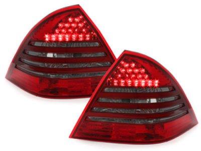 Задние фонари Led Red Smoke на Mercedes C класс W203