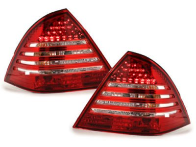 Задние фонари Led Red Crystal на Mercedes C класс W203