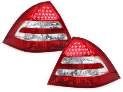 Задние диодные фонари Led Red Crystal на Mercedes C класс W203 рестайл