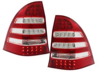 Задние фонари Led Red Crystal на Mercedes C класс W203 Wagon