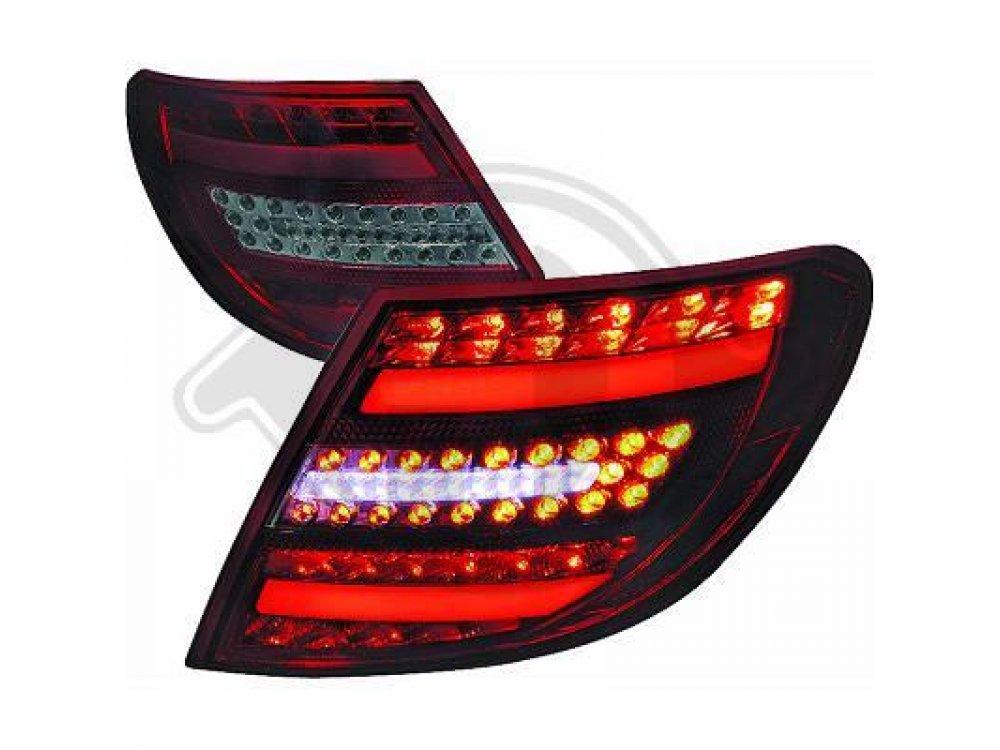 Задние диодные фонари Full Led Red Smoke на Mercedes C класс W204