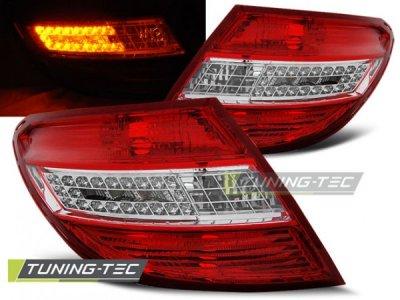 Задняя альтернативная оптика Led Red Crystal на Mercedes C класс W204