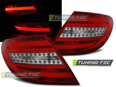 Задние фонари LED Red Crystal от Tuning-Tec на Mercedes C класс W204