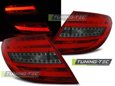 Задние фонари LED Red Smoke от Tuning-Tec на Mercedes C класс W204