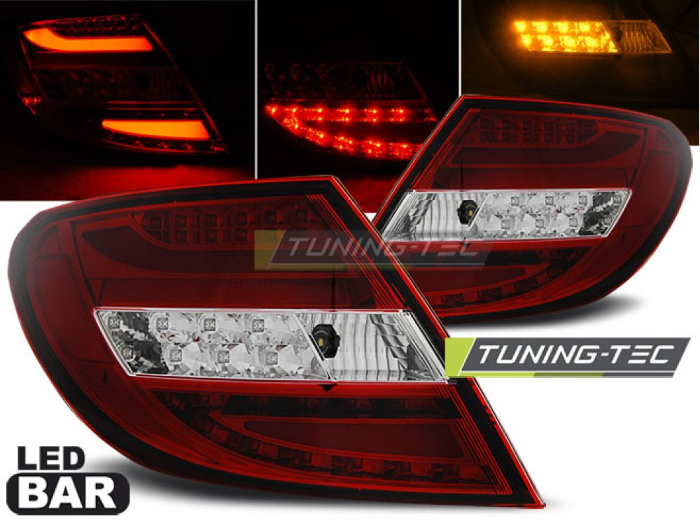 Задние фонари LEDBar Red Crystal от Tuning-Tec на Mercedes C класс W204