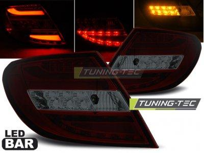 Задние тюнинговые фонари LEDBar Red Smoke от Tuning-Tec на Mercedes C класс W204