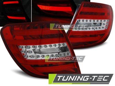 Задние светодиодные фонари LED Red Crystal от Tuning-Tec на Mercedes C класс W204 Kombi