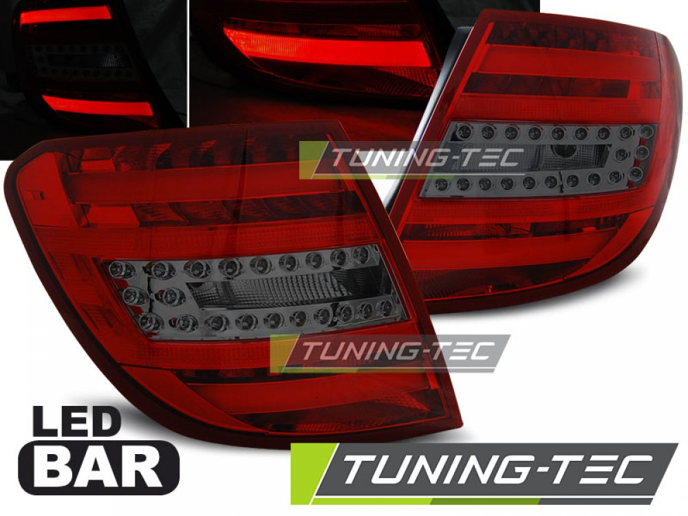 Задние фонари LED Red Smoke от Tuning-Tec на Mercedes C класс W204 Kombi