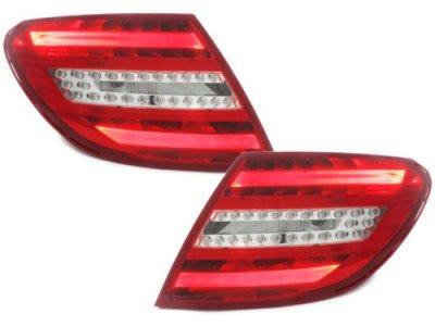 Задние диодные фонари Led Red Crystal на Mercedes C класс W204