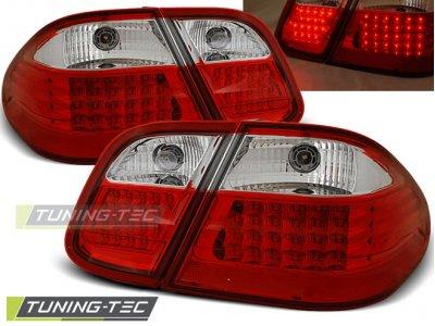 Задние диодные фонари LED Red Crystal от Tuning-Tec на Mercedes CLK класс W208