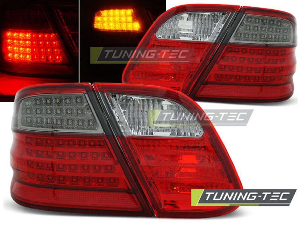 Задние фонари LED Full Red Smoke от Tuning-Tec на Mercedes CLK класс W208