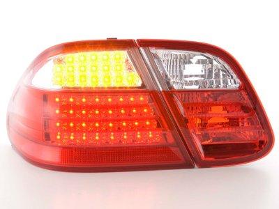 Задние диодные фонари Full LED Red Crystal на Mercedes CLK класс W208