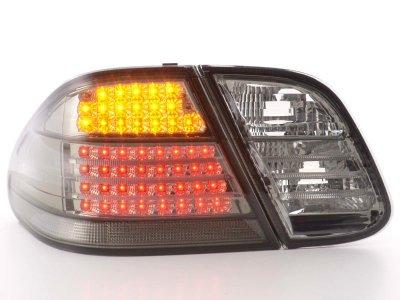 Задние диодные фонари Full LED Smoke на Mercedes CLK класс W208