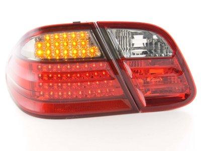 Задние диодные фонари Full LED Red Smoke на Mercedes CLK класс W208