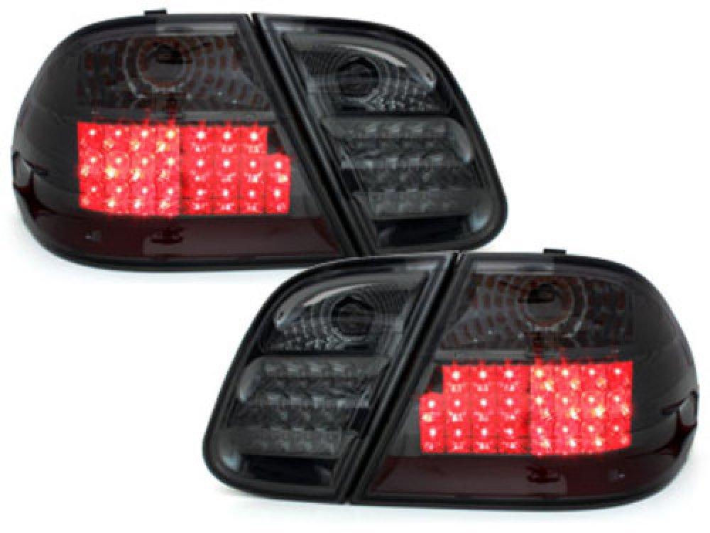 Задние фонари LED Smoke на Mercedes CLK класс W208