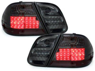 Задняя альтернативная оптика LED Smoke на Mercedes CLK класс W208