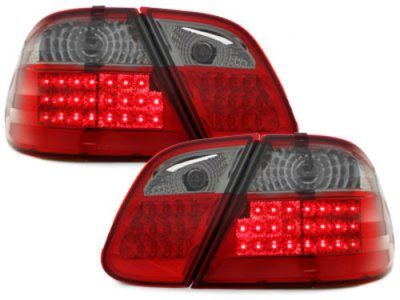 Задняя альтернативная оптика LED Red Smoke на Mercedes CLK класс W208