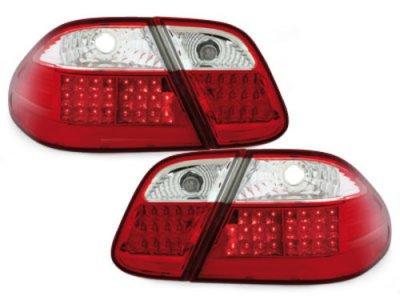 Задняя альтернативная оптика LED Red Crystal на Mercedes CLK класс W208