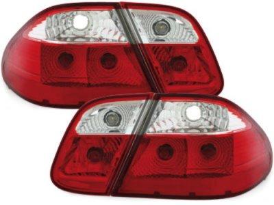 Задние тюнинговые фонари красные на Mercedes CLK класс W208