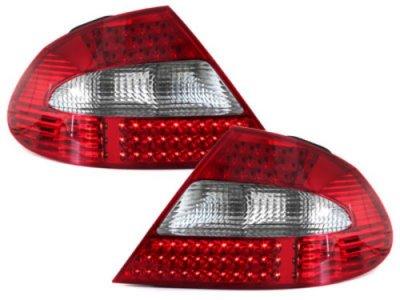 Задняя альтернативная оптика LED Red Crystal на Mercedes CLK класс W209