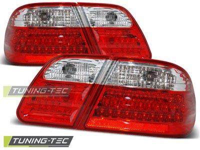 Задние тюнинговые фонари LED Red Crystal от Tuning-Tec на Mercedes E класс W210