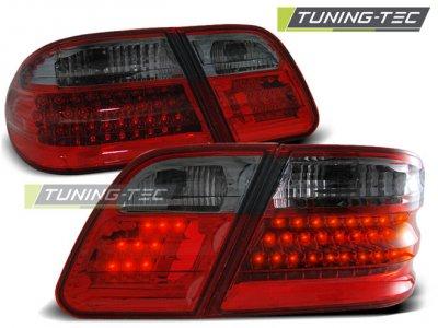 Задние тюнинговые фонари LED Red Smoke от Tuning-Tec на Mercedes E класс W210
