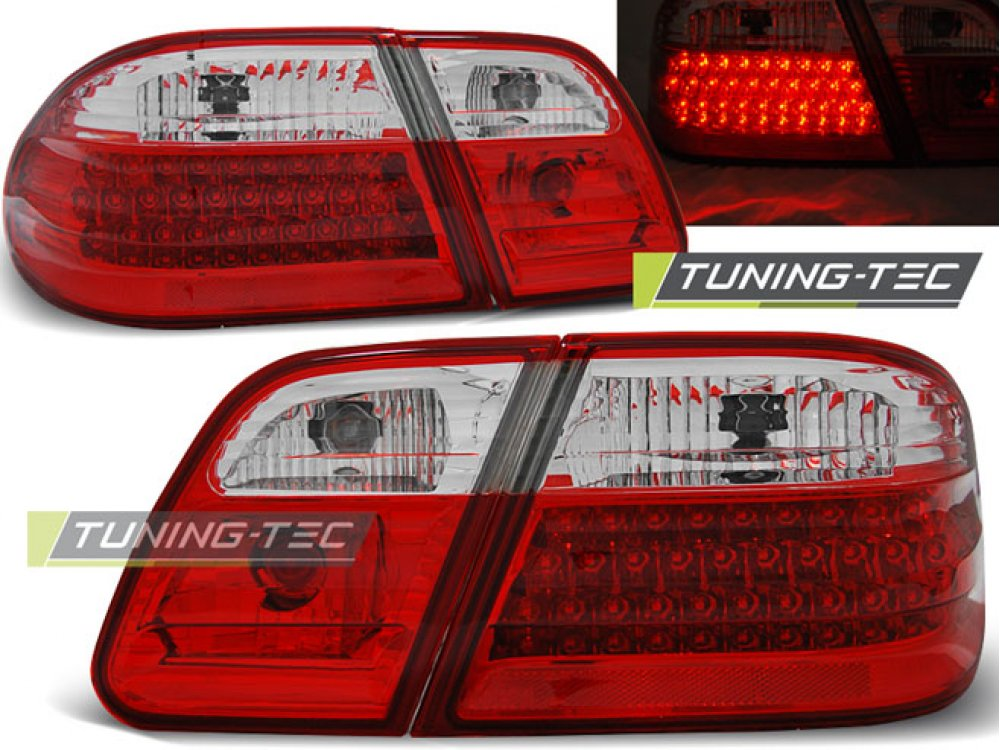 Задние фонари LED Red Crystal Var2 от Tuning-Tec на Mercedes E класс W210