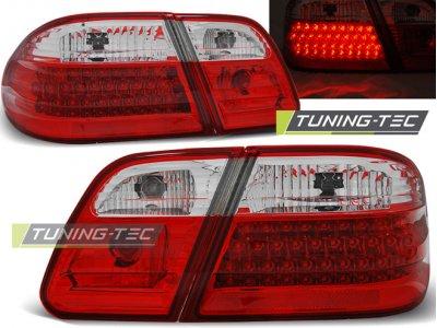 Задние светодиодные фонари LED Red Crystal Var2 от Tuning-Tec на Mercedes E класс W210