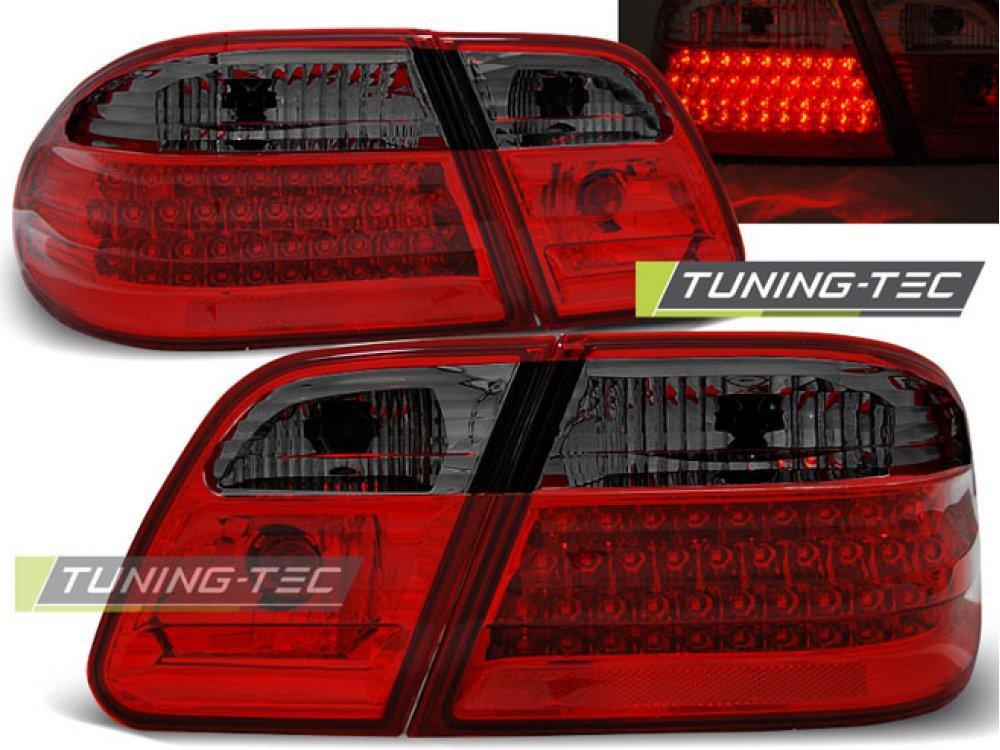 Задние фонари LED Red Smoke Var2 от Tuning-Tec на Mercedes E класс W210