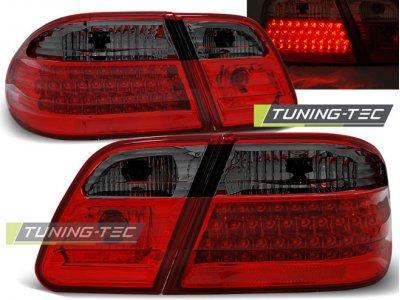 Задние светодиодные фонари LED Red Smoke Var2 от Tuning-Tec на Mercedes E класс W210