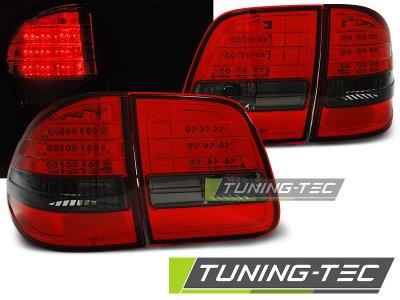 Задние фонари LED Red Smoke Var2 от Tuning-Tec на Mercedes E класс W210 Kombi