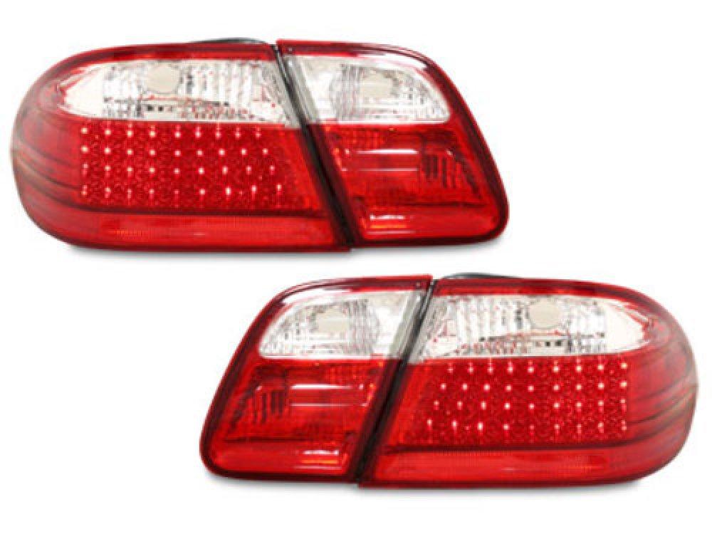 Задние диодные фонари LED Red Crystal на Mercedes E класс W210