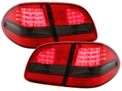 Задние фонари LED Red Smoke на Mercedes E класс W211 T-Mode