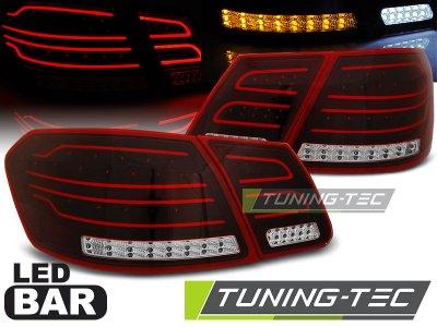 Задние неоновые фонари LED Red Crystal на Mercedes E класс W212